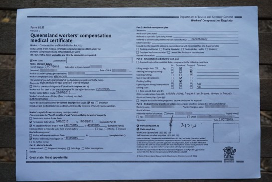 workcover form