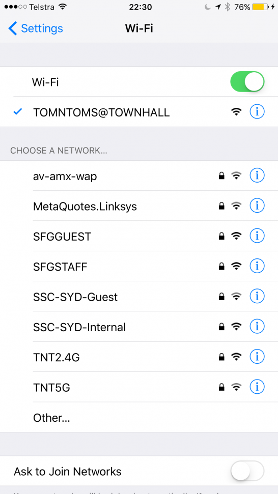シドニー Free Wifi